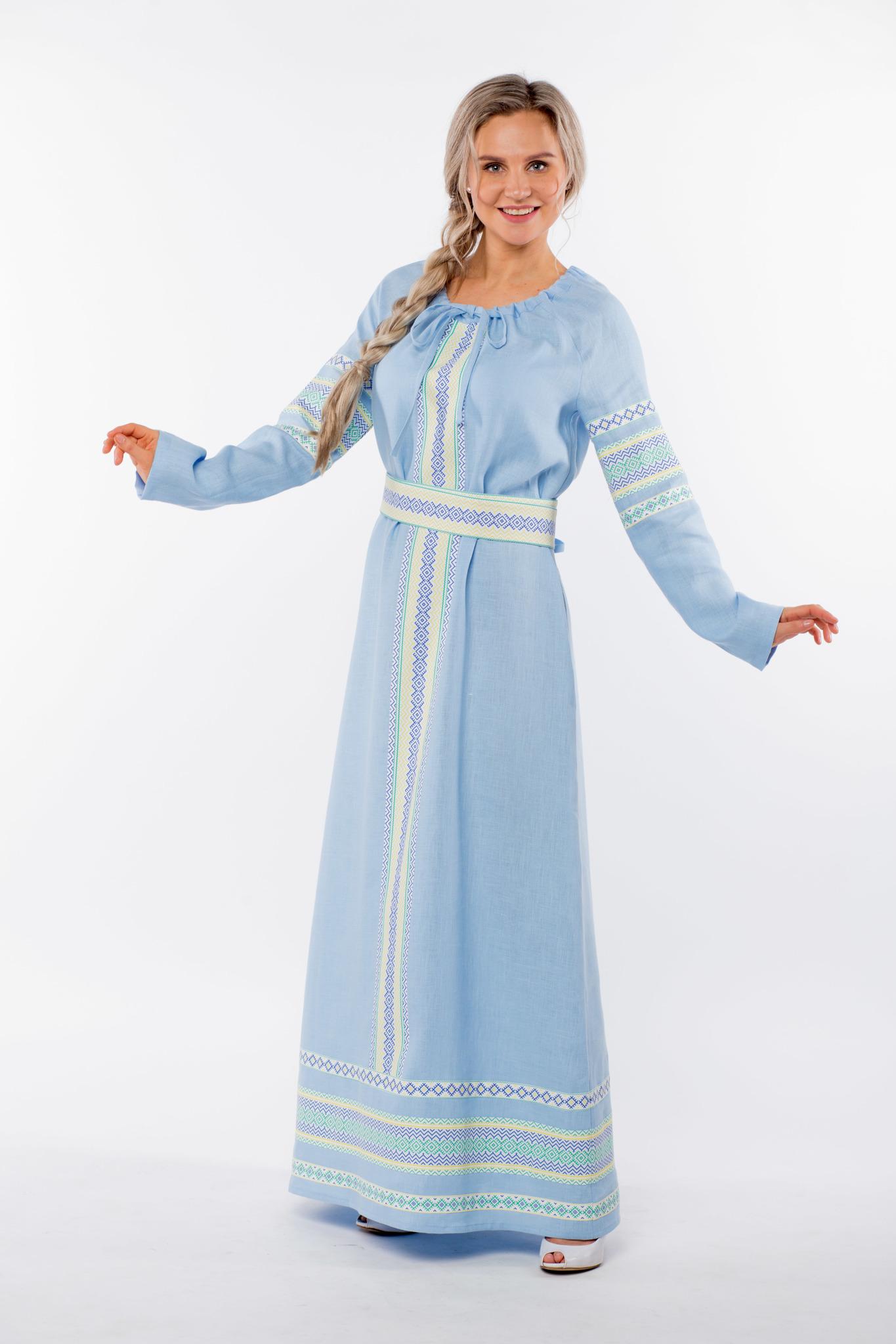 Платье льняное Чистый родник интернет-магазин Иванка