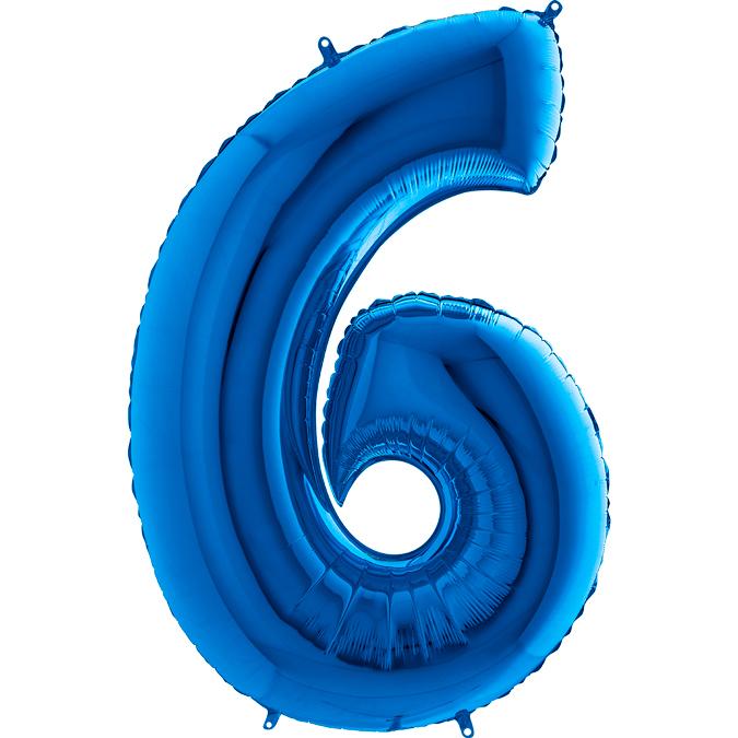 Синяя цифра 6