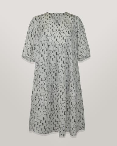 Платье Piena 6564 волан буквы к/р белое