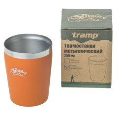 Термостакан Tramp металлический TRC-101, оранжевый, 250мл - 2