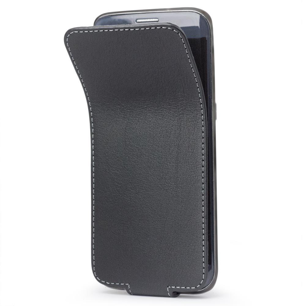 Чехол для Samsung Galaxy S7 edge из натуральной кожи теленка, черного цвета