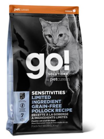 купить GO! Sensitivity + Shine pollock recipe for cats сухой беззерновой корм для котят и кошек с минтаем для чувствительного пищеварения
