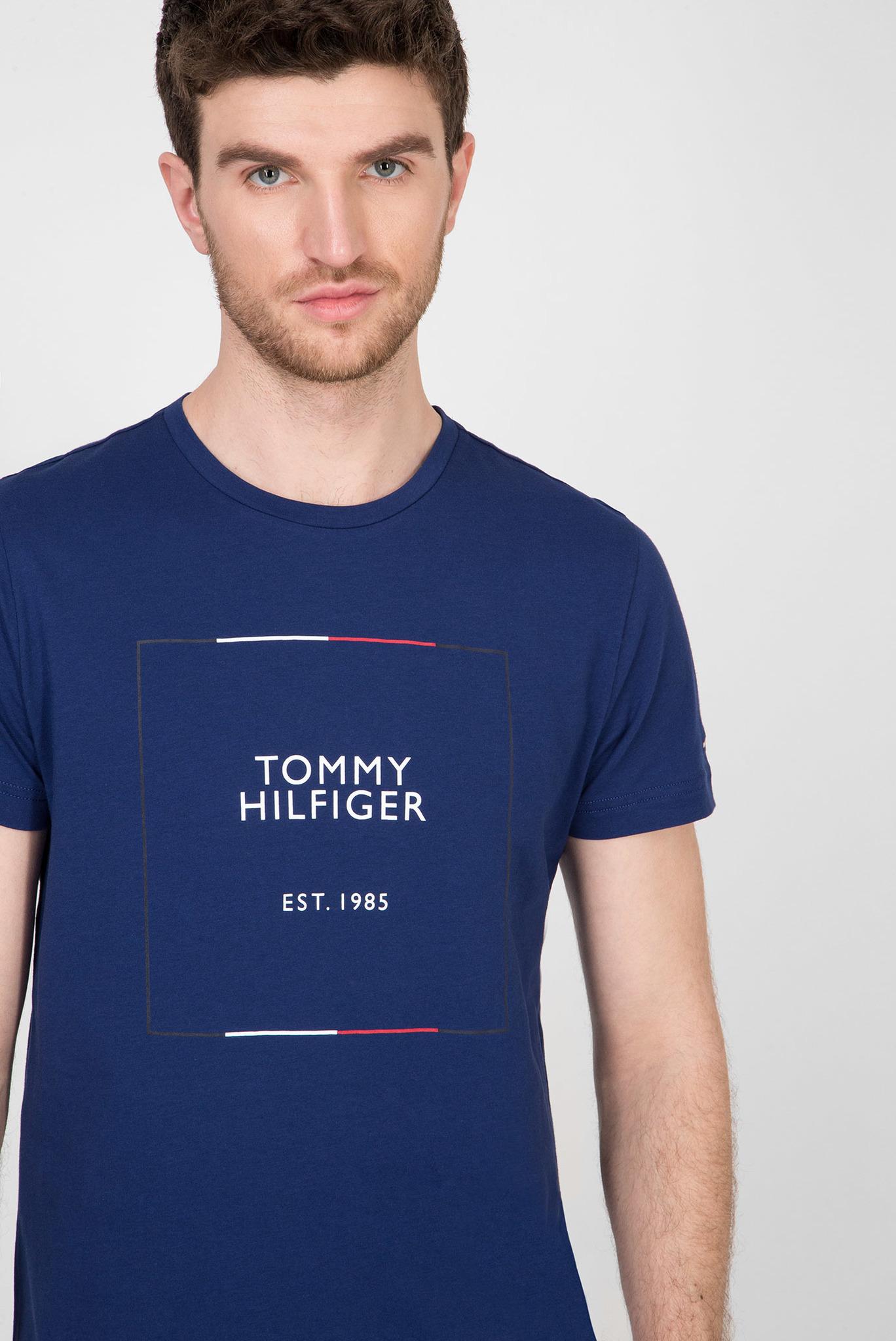 Мужская синяя футболка RWB BOX OUTLINE Tommy Hilfiger