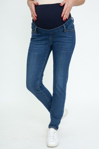 Утепленные джинсы для беременных (SLIM) 11945 синий