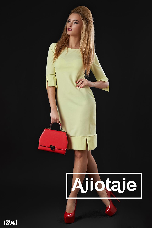 Желтое платье в стиле минимализм