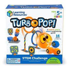 LER9292 Развивающая игрушка Попади в цель Турбо (серия Crashapult STEM) Learning Resources упаковка