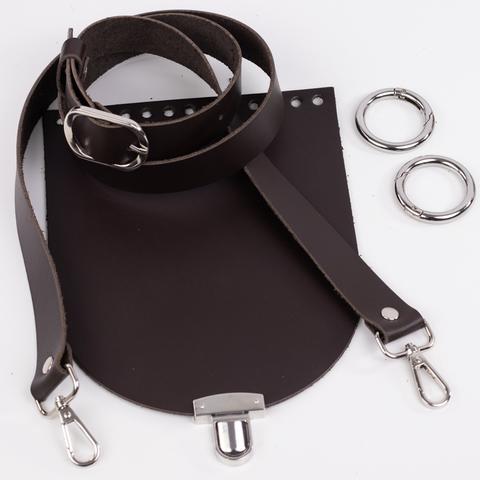 "Комплект для сумочки Орео ""Темно-коричневый"" N12"