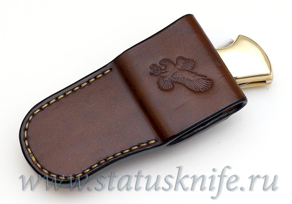 Чехол кожаный коричневый Buck 110 - фотография