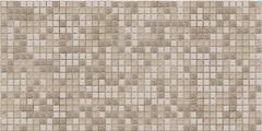 Декоративная панель ПВХ Мозаика коричневая с узорами