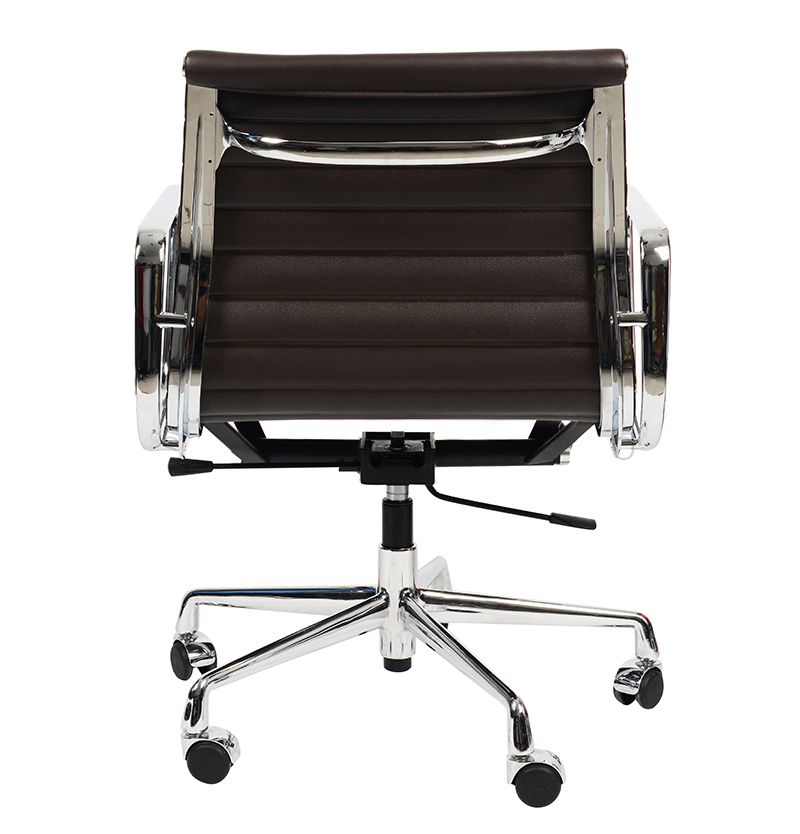 Кресло Eames Style Ribbed Office Chair EA 117 кофейная кожа - вид 4