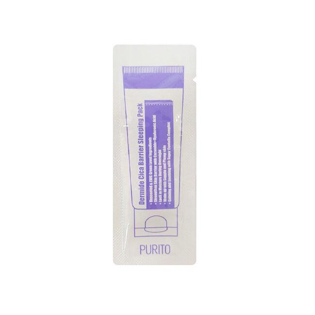 Ночные маски Маска ночная для лица PURITO ПРТ Dermide Cica Barrier Sleeping Pack (sample) 220687819.jpg