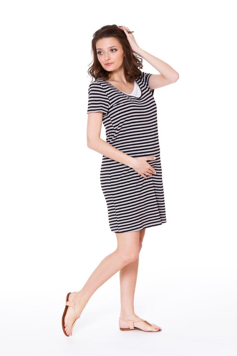 Фото платье для беременных и кормящих MAMA`S FANTASY, свободное от магазина СкороМама, серый, размеры.