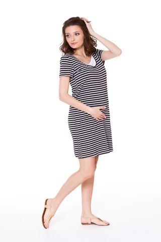 Платье для беременных и кормящих 08681 серый