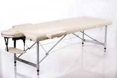 Массажный стол деревянный 2-хсекционный RESTPRO ALU 2L Cream