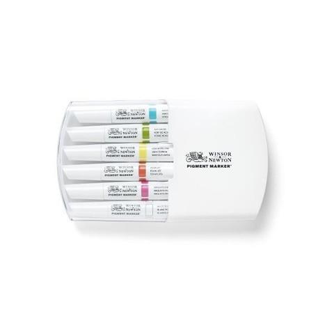 Набор маркеров Pigment Marker 6шт яркие оттенки