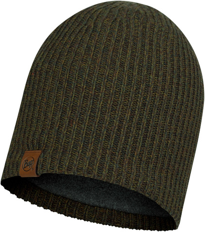 Шапка вязаная с флисом Buff Hat Knitted Polar Lyne Bark фото 1