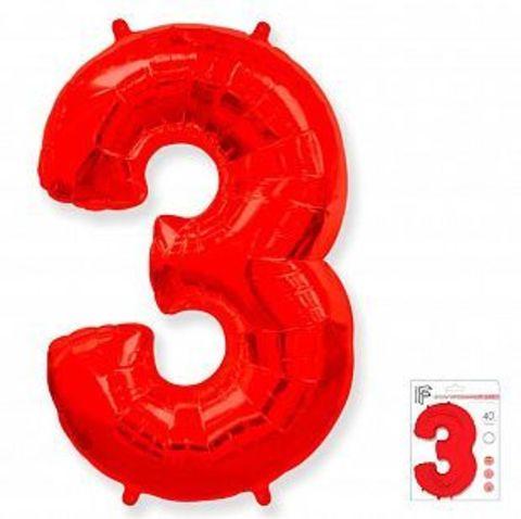 Цифра три- красная