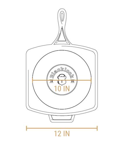 Сковородка-гриль квадратная , артикул BL65GP