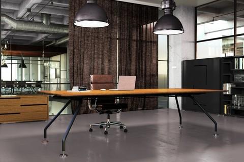 Стол руководителя со шпонированной столешницей (XEON)