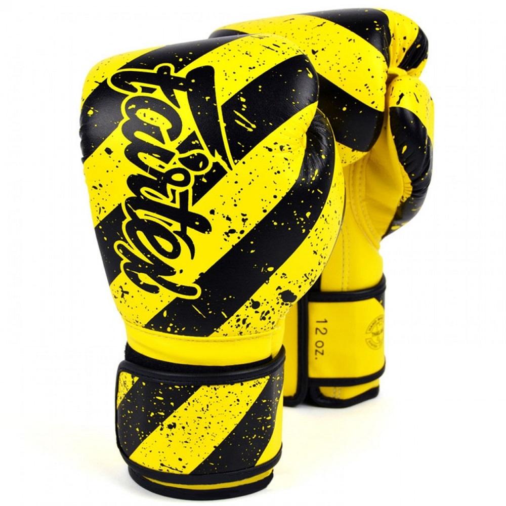 Перчатки Перчатки для бокса Fairtex Boxing gloves BGV14Y Yellow grunge 1.jpg
