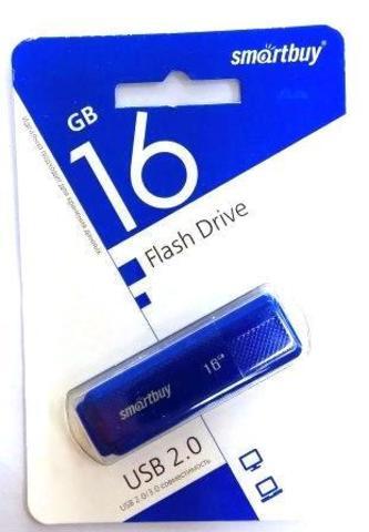 Флеш-накопитель USB  16GB  Smart Buy  Dock синий