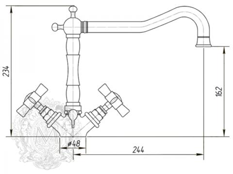 Смеситель для кухни Migliore Princeton, ML.CUC-851