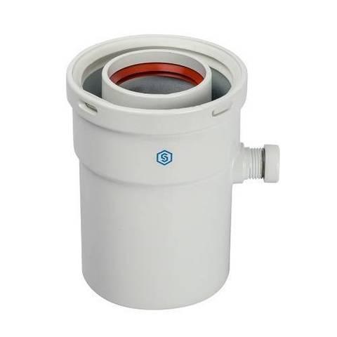 Конденсатосборник вертикальный для коаксиального дымохода STOUT D60/100 мм