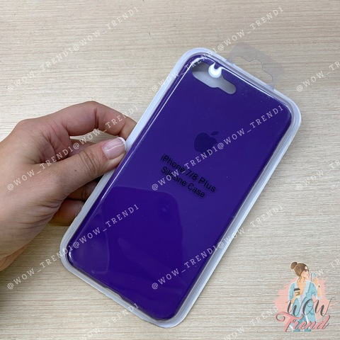 Чехол iPhone 7/8 Plus Silicone Slim Case /ultra violet/