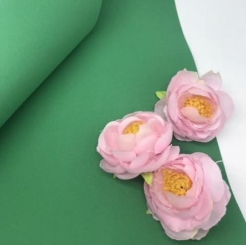 Шелковый фоамиран  25*25 см. Зеленый 25