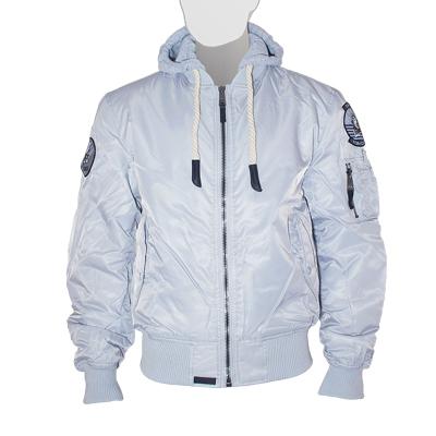Куртка утепленная 'MA-1 With Hoodie' Silver