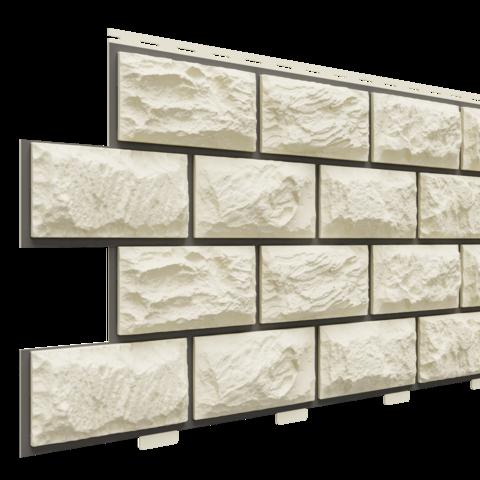 Фасадные панели (Цокольный Сайдинг) Доломит Альпийский Премиум Берилл