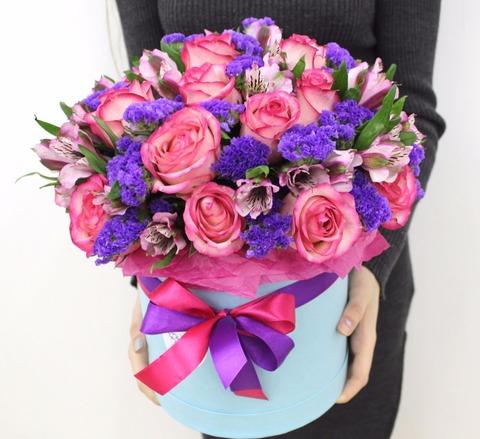 Цветы в шляпной коробке #1516