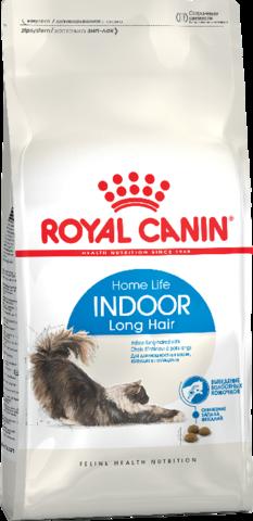 Royal Canin Indoor Long Hair для взрослых длинношерстных кошек