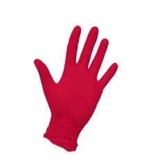Перчатки красные нитриловые