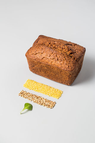 Хлеб безглютеновый «Пшено-семена льна», 450 г