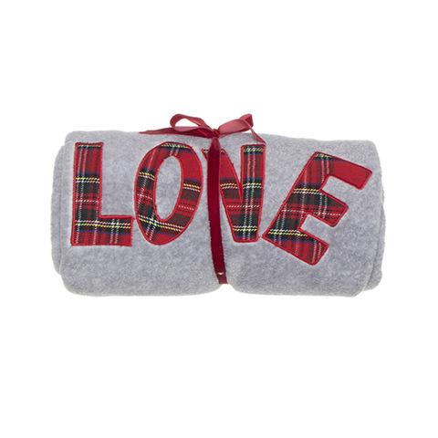 Плед Love 130x160 серый