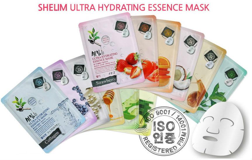 Маска тканевая для лица с коллагеном Shelim Hydrating Essence Mask