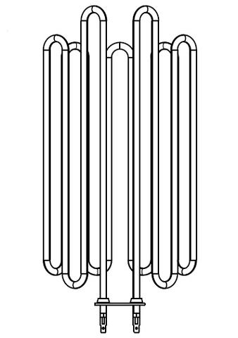 Нагревательный элемент Harvia ZVO-200 3500W для печи Globe