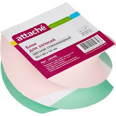 Блок для записей Attache 80x80x50 мм разноцветный (плотность 80-100 г/кв.м)