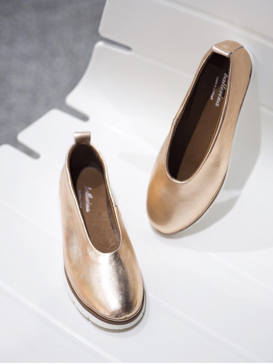 Балетки, Ballerina, LUCHIA (розовое золото)