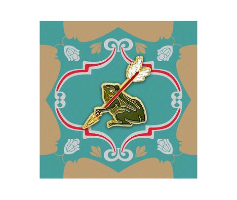 Значок металлический Сказки: Царевна-лягушка