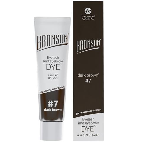 Краска для ресниц и бровей BRONSUN, цвет темно-коричневый #7, 15мл