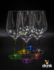 Набор из 6 цветных бокалов для вина Gastro Арлекино, 350 мл, фото 1