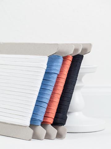 Плоский хлопковый шнур 8 мм, 4 цвета