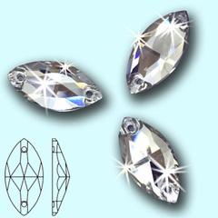 Стразы пришивные стеклянные Navette Crystal, Лодочка Кристал купите оптом на StrazOK.ru