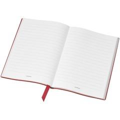 Записная книжка А5 красного цвета, линованные страницы