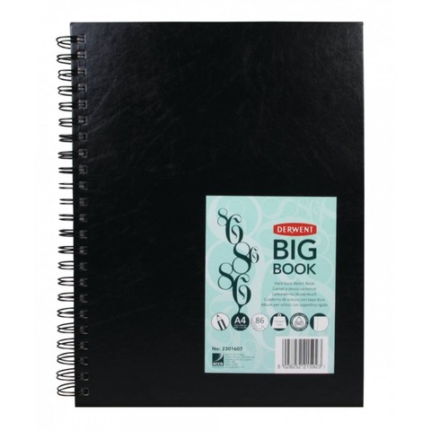 Скетчбук Big Book 110г/кв.м А4 21*29.7см 86л твердая обложка спираль черный