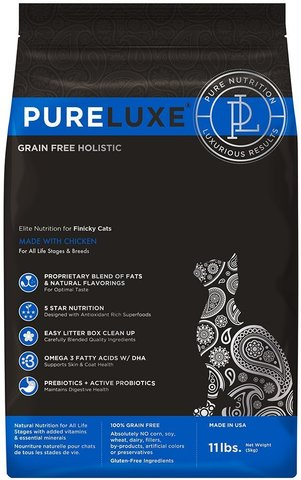 PureLuxe Elite Nutrition for finicky cats with chicken