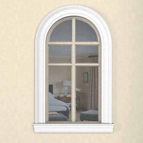 Пример наличник из пенопласта на окне