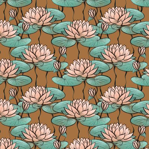 Лилии на пруду